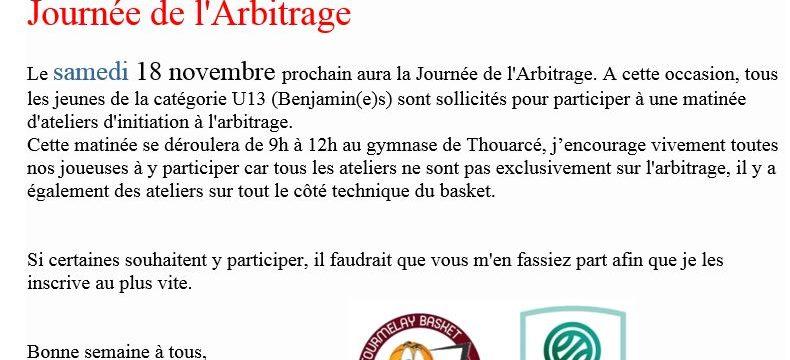 Journée de l'Arbitrage 18 Novembre 2017