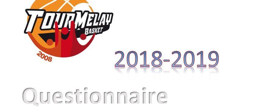 Questionnaire Pour Saison 2018-2019